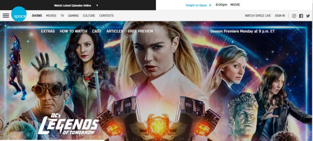 legends of tomorrow on space