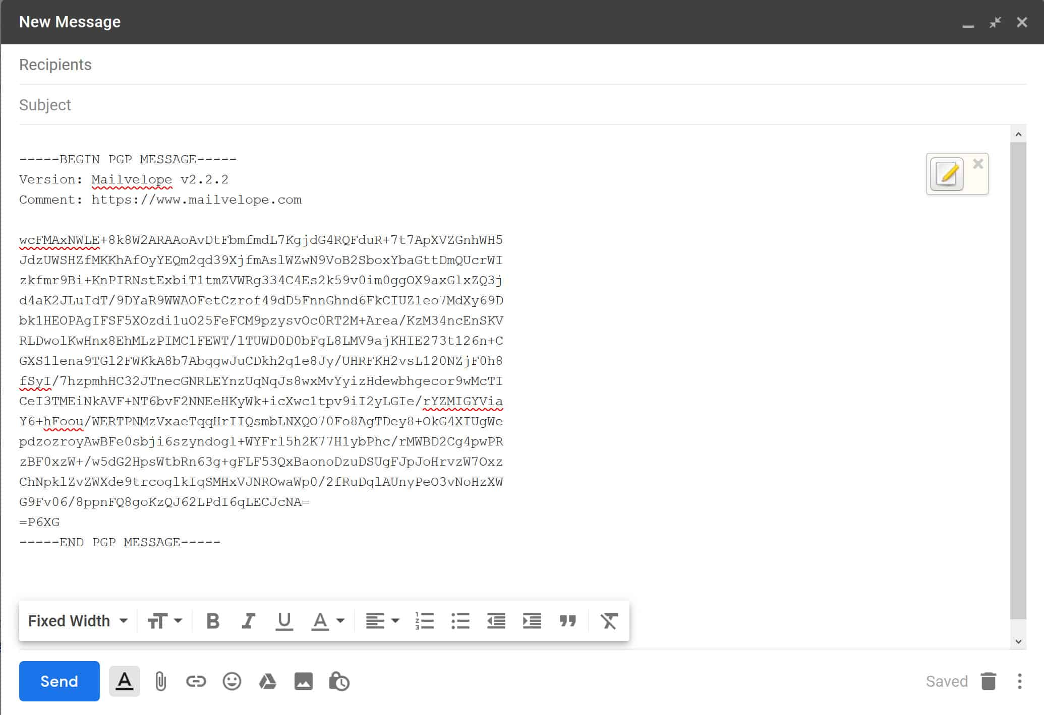 How to use PGP encryption with Gmail using Mailvelope or