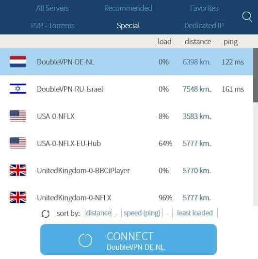VPNArea special servers.
