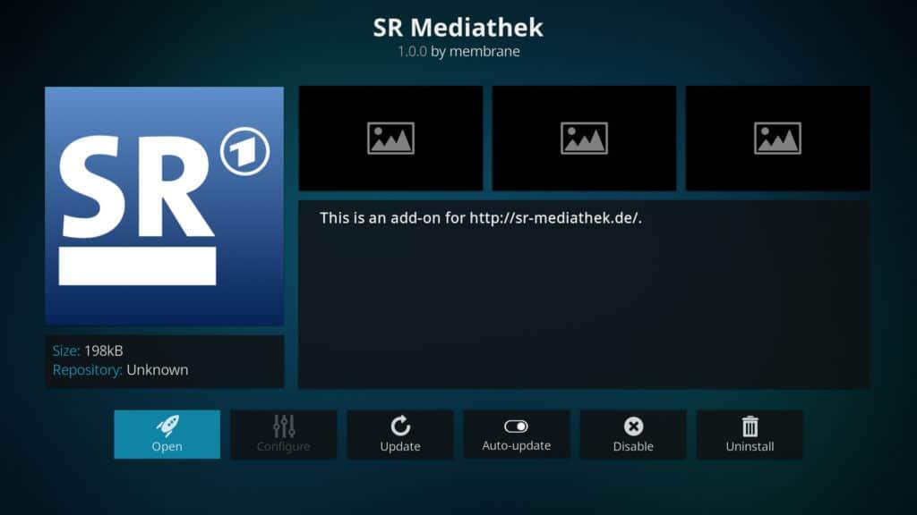 SR Mediathek Kodi addon