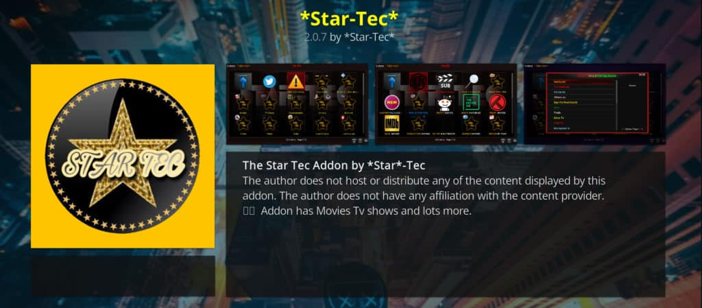 star tec kodi sports addons
