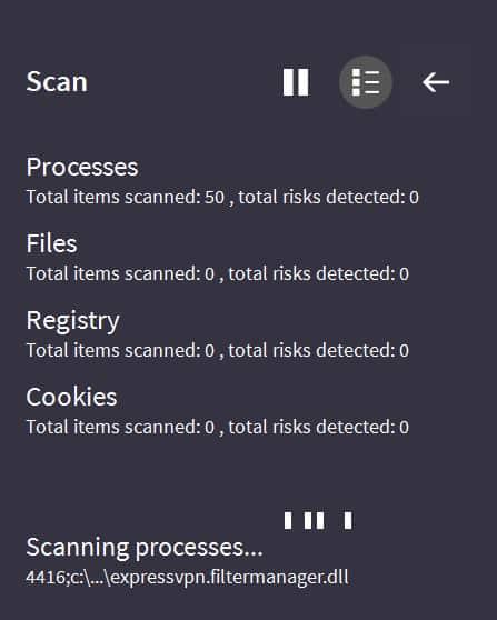 vipre antivirus scanning