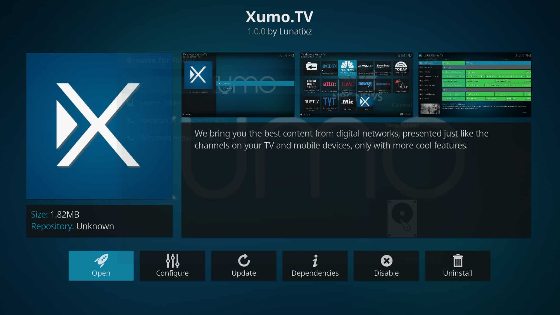kodi media sources exodus