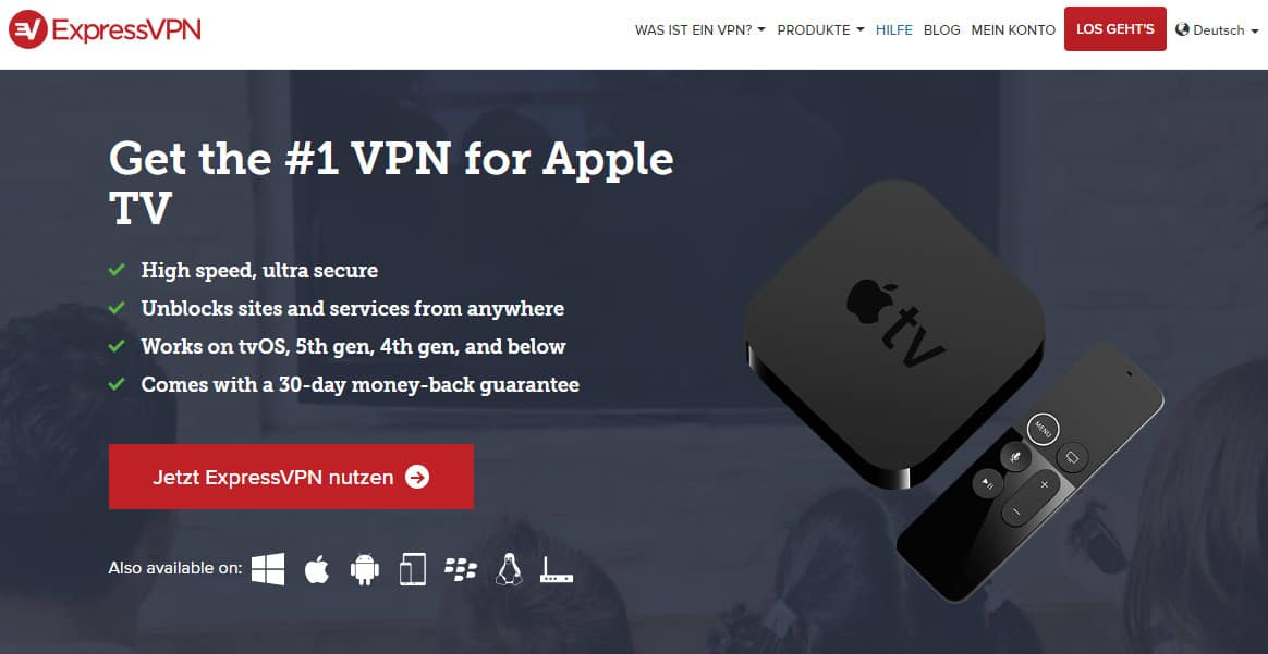 ExpressVPN apple tv German
