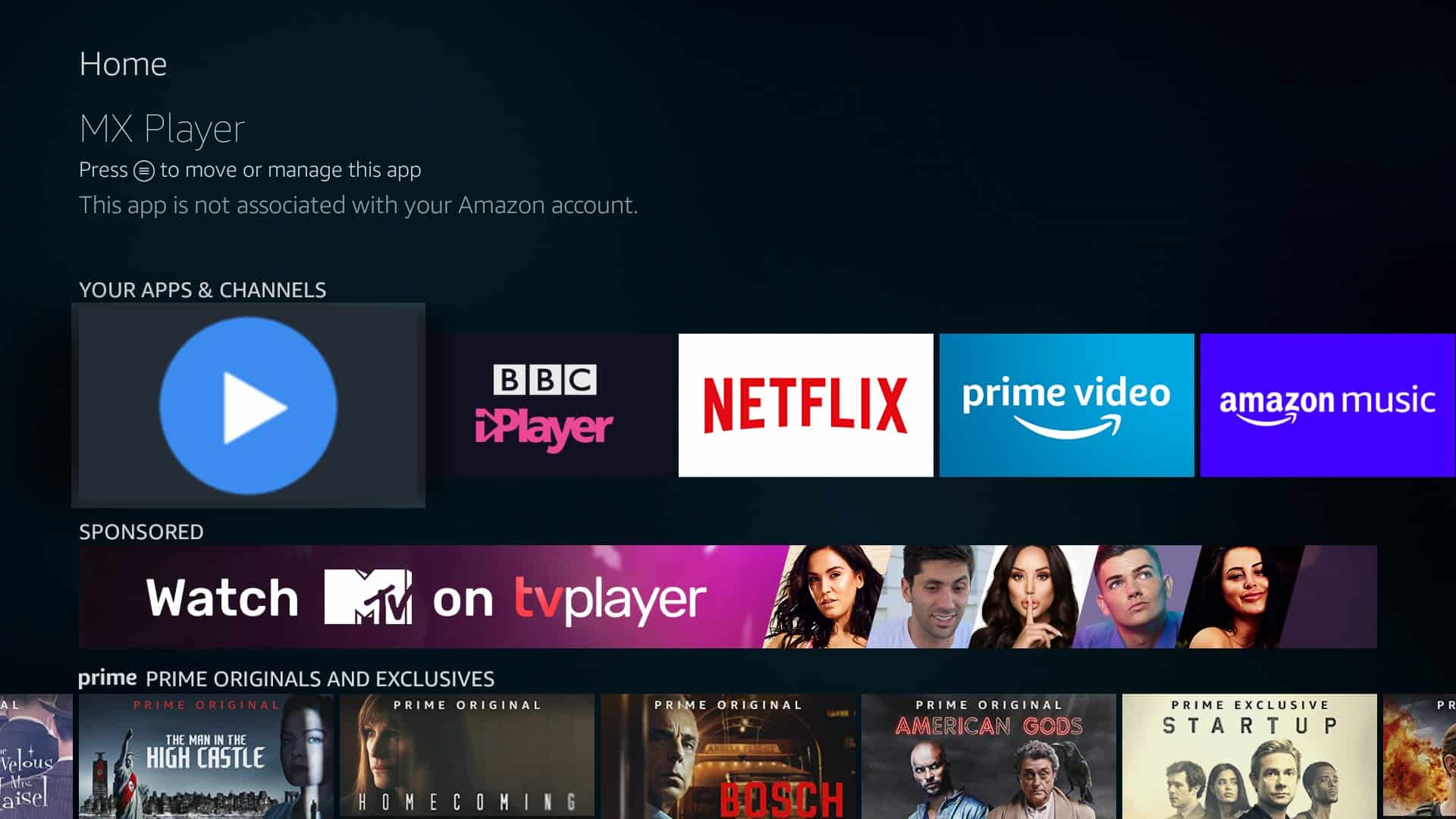 How to install MX Player on Amazon Firestick or Fire TV