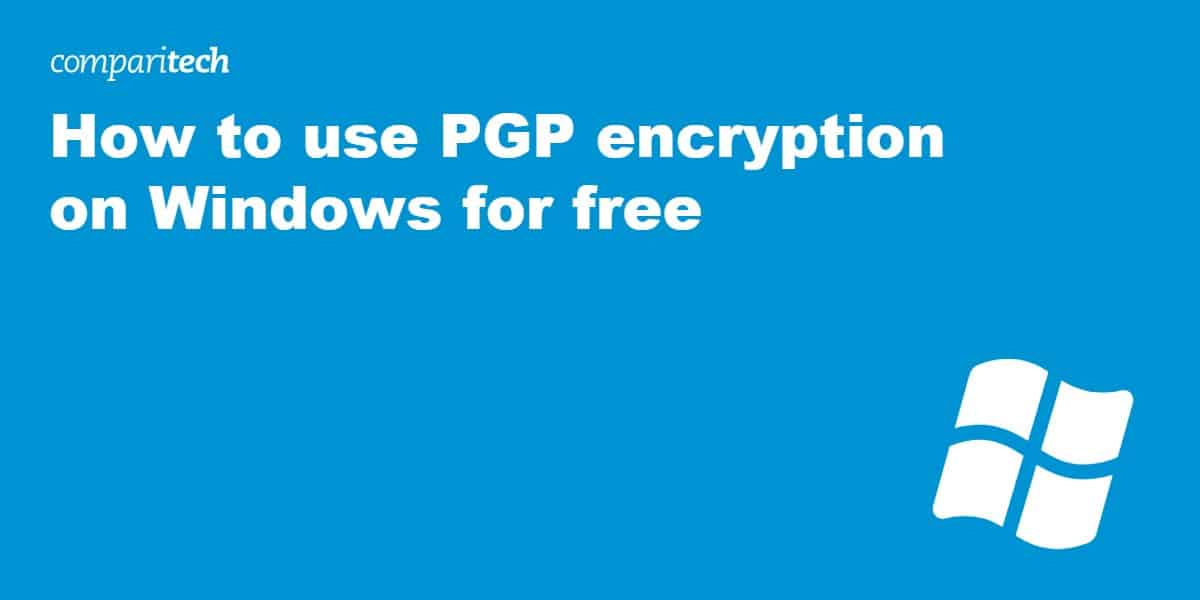 use PGP encryption on Windows free