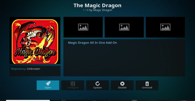 Kodi Magic Dragon Addon Main