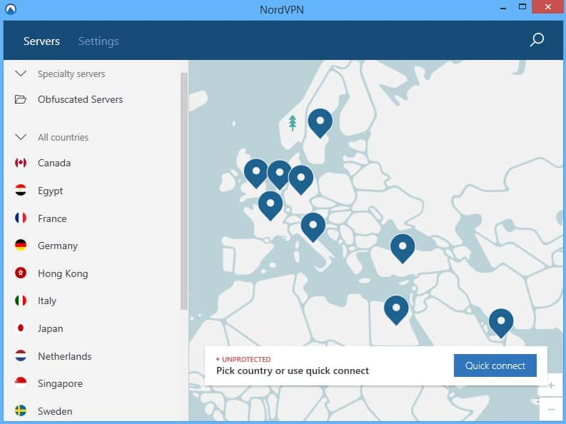 NordVPN desktop screenshot