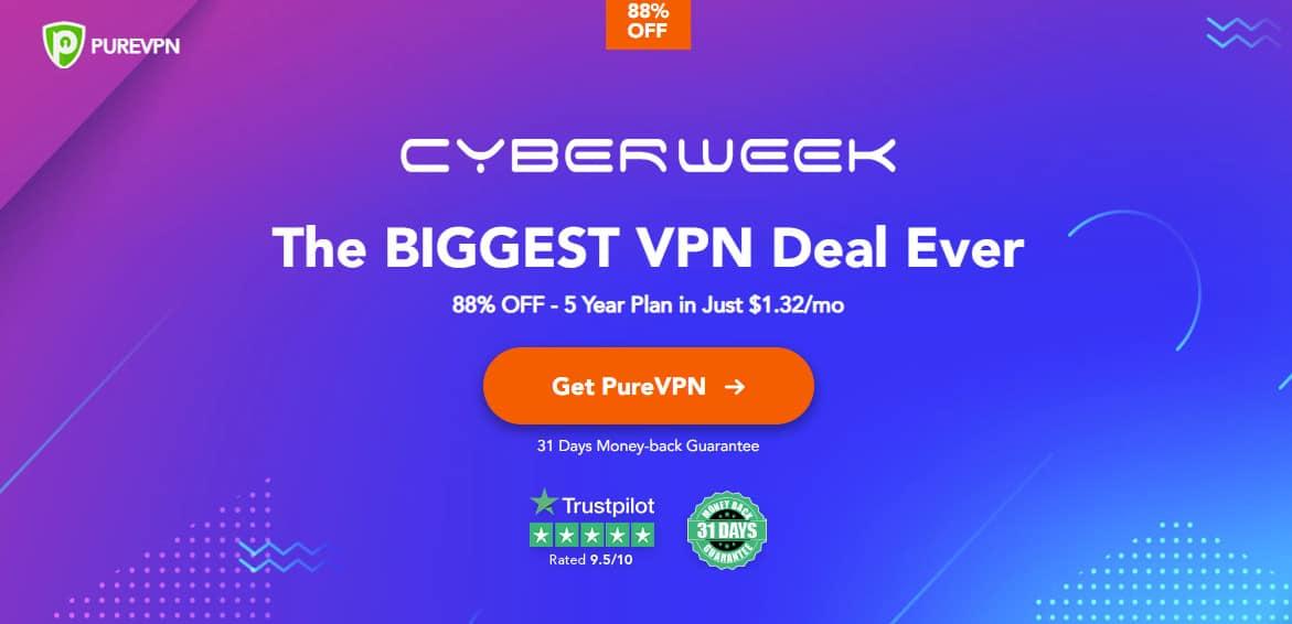 PureVPN cyberweek