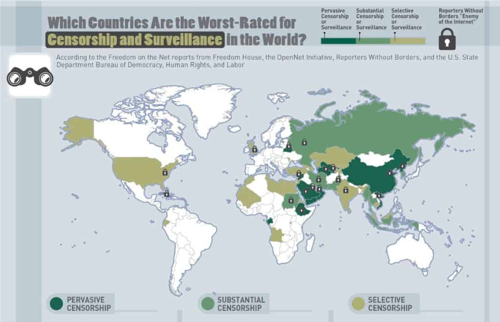 Security Baron map of worst-rated countries.