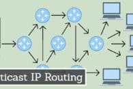 What is multicast IP routing?