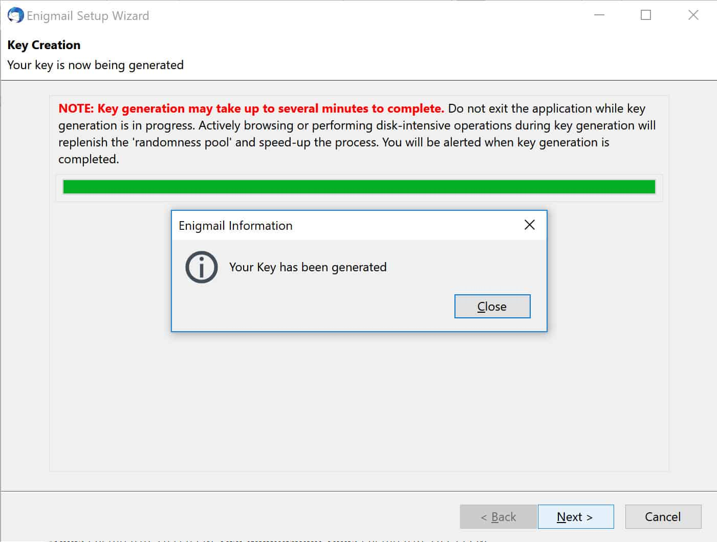 pgp key generator windows 10