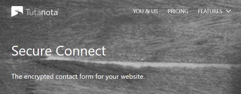Secure Connect homepage.