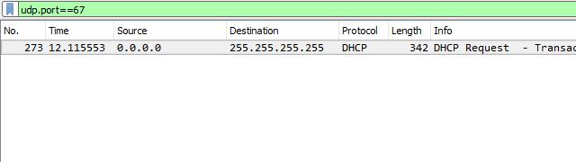 Using Wireshark to get the IP address of an Unknown Host