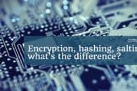 Encryption, hashing, salting – what's the difference?