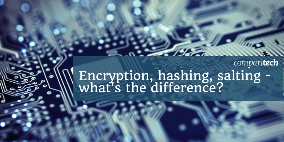 Encryption, hashing, salting - what's the difference