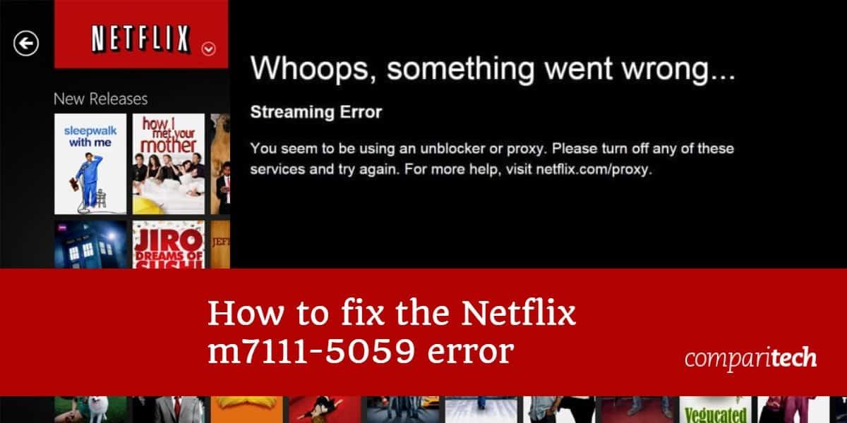 Netflix m7111-5059 error
