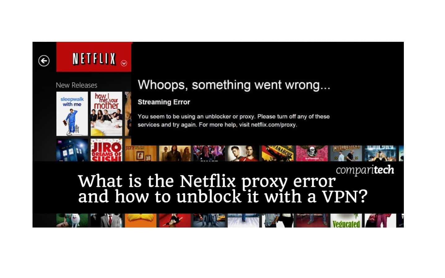 What is the Netflix Proxy Error and which VPN's still Bypass