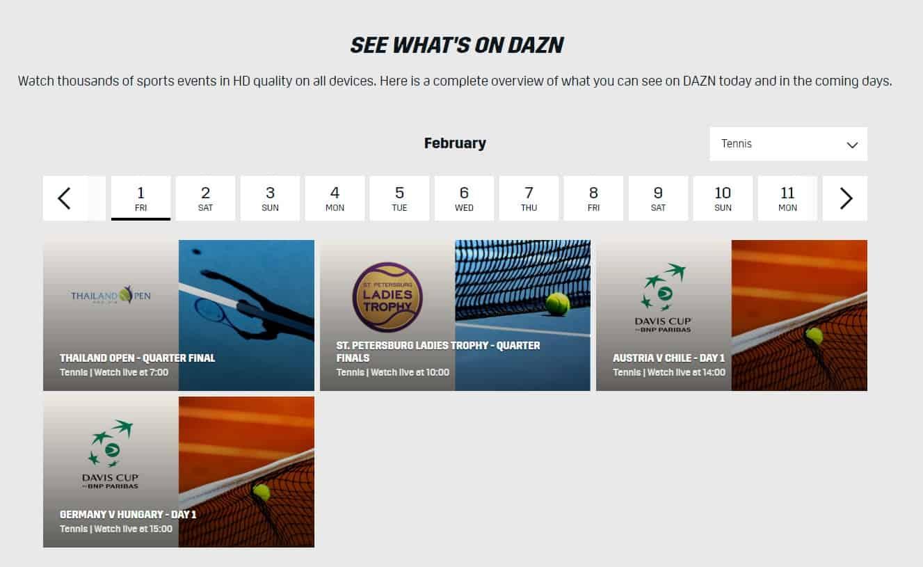 Davis cup on DAZN