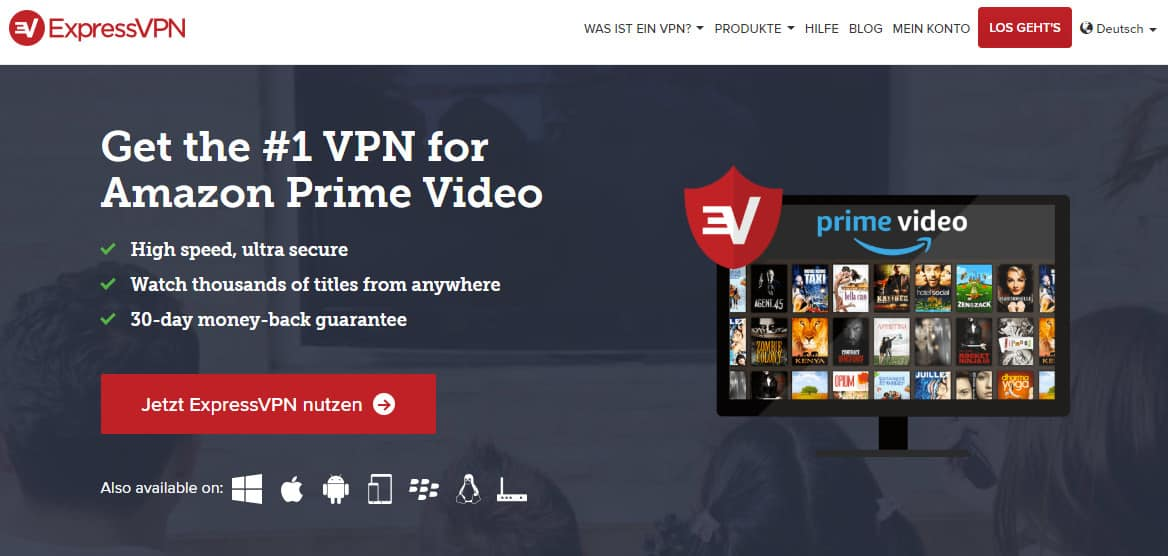 ExpressVPN amazon prime german