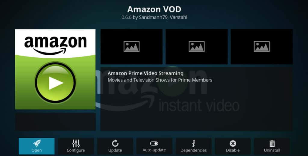 Amazon Kodi addons