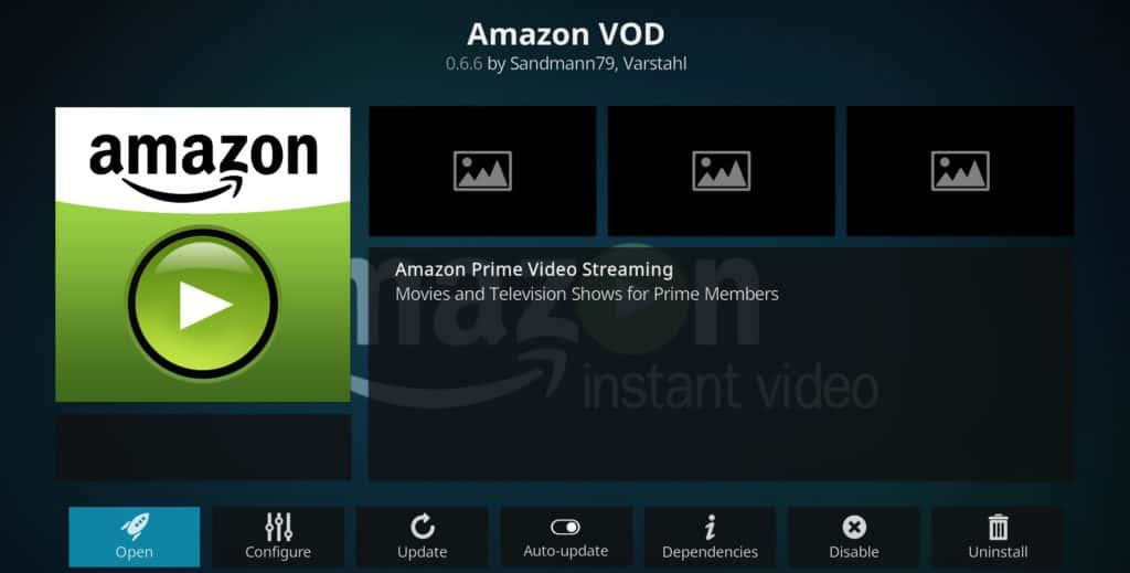 Amazon Kodi addons