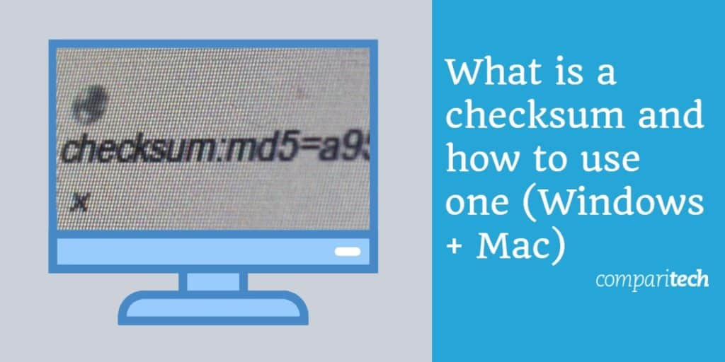 how to checksum windows mac