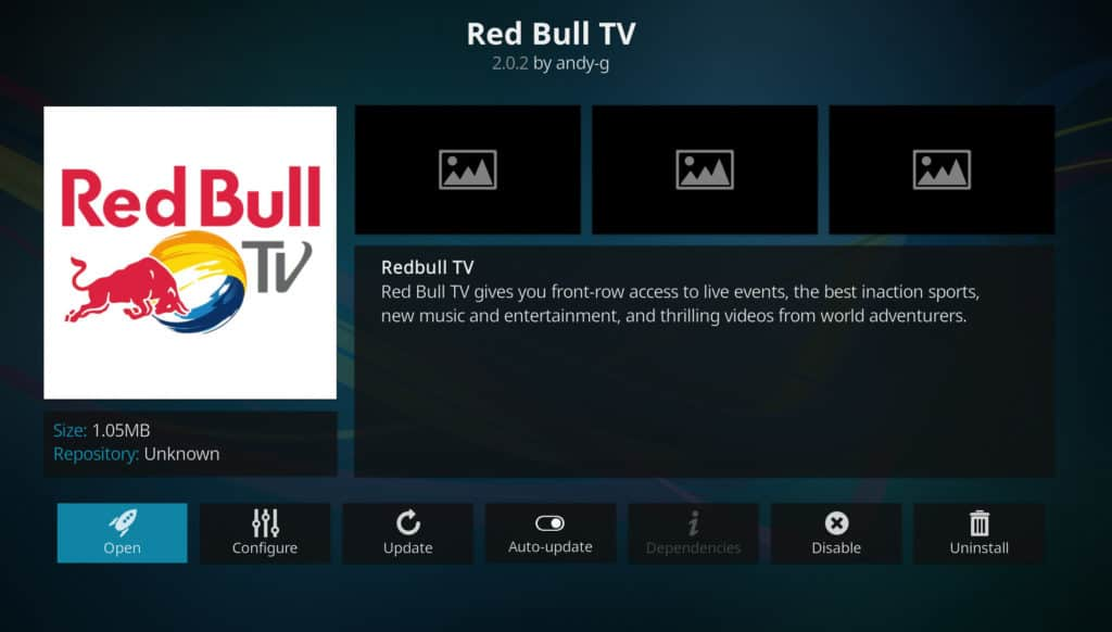 red bull tv best kodi addons