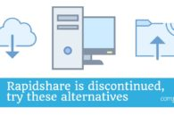 Rapidshare is discontinued, try these alternatives