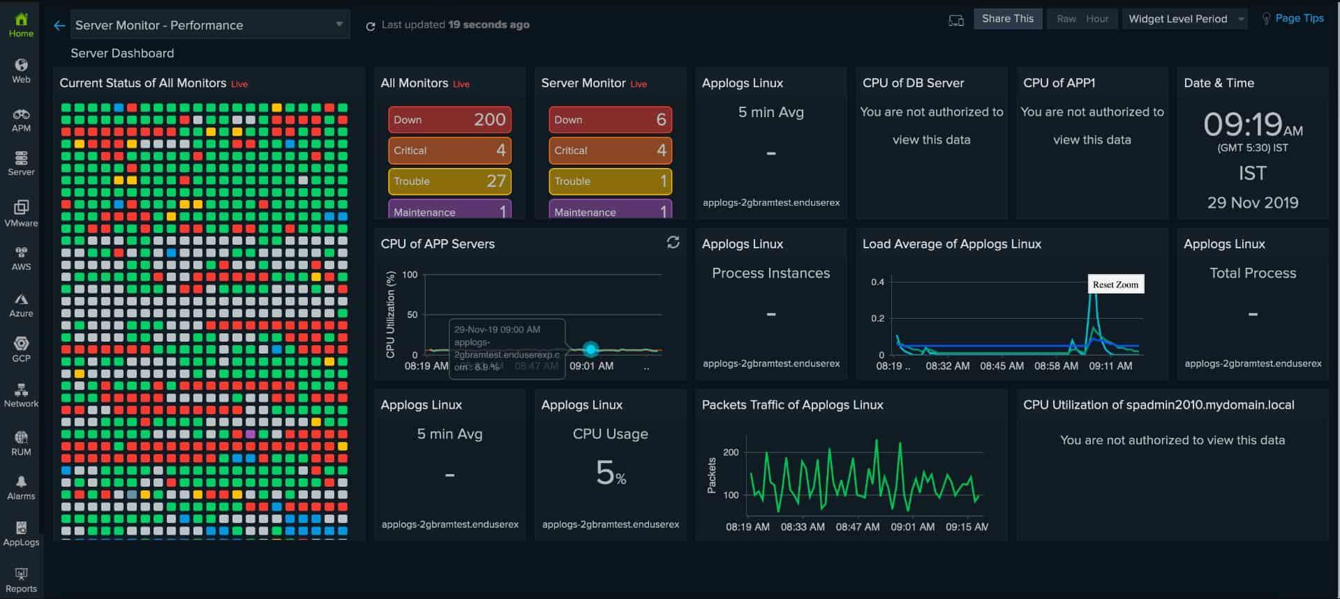 Site24x7 Server Monitoring
