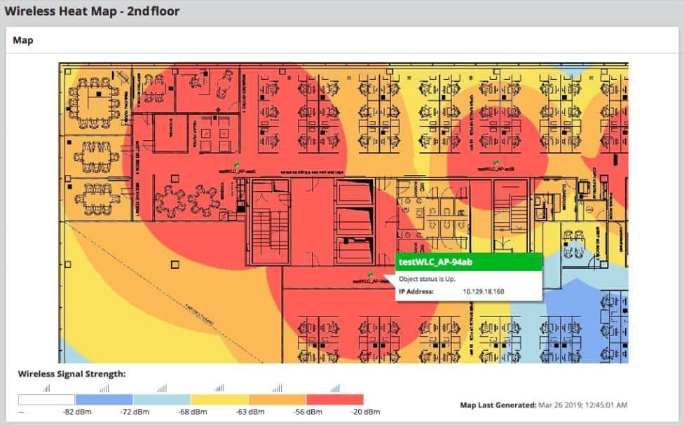 SolarWinds NPM - Wireless Heatmap view