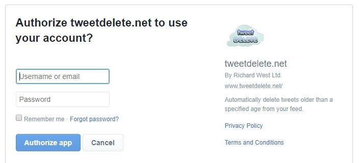 TweetDelete authorization.
