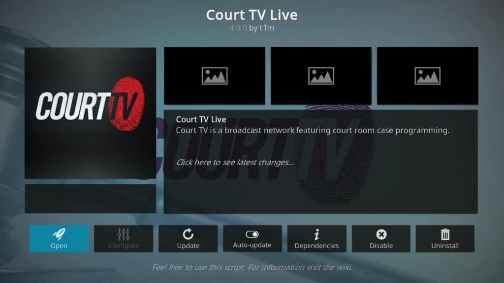 court tv kodi addon