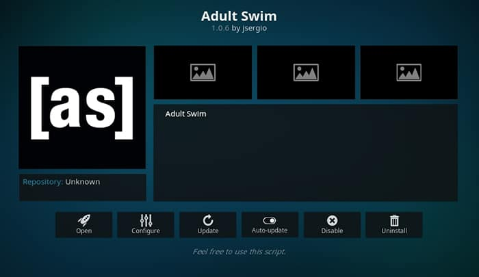 kodi adult swim addon