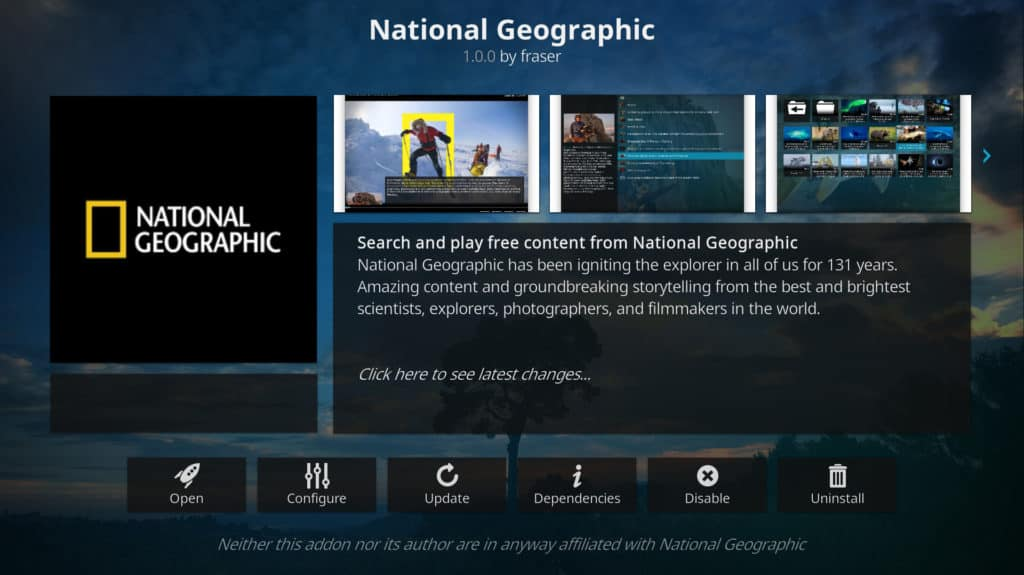 best kodi addons Nobember 2019 national geographic