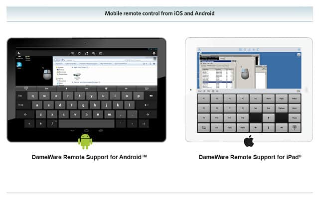 Dameware mobile device-based access