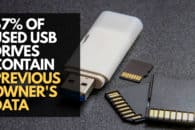 Two-thirds of secondhand USB drives still contain previous owners' data: study