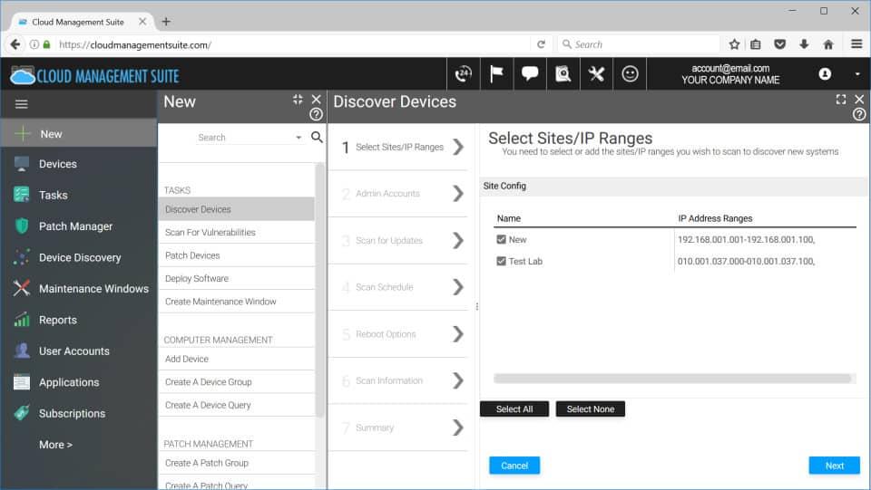 Cloud Management Suite screenshot