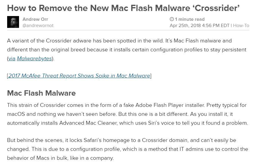 Crossrider malware