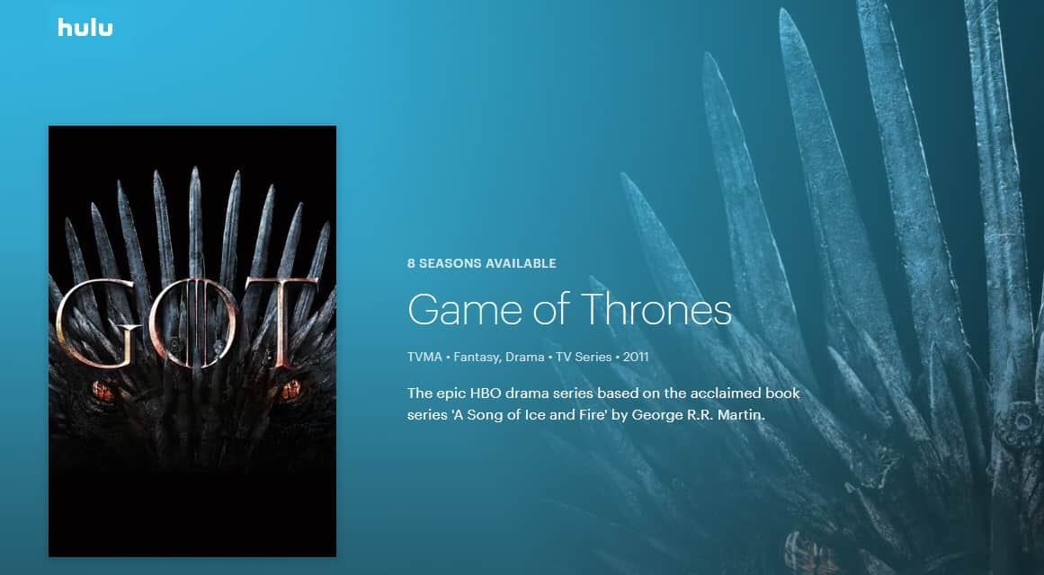 Hulu Game of Thrones