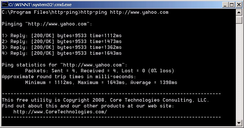 Ping screenshot