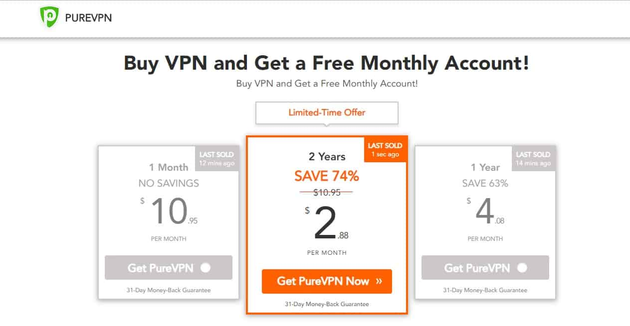 PureVPN Coupon Code - 74% discount (Tested April 2019)