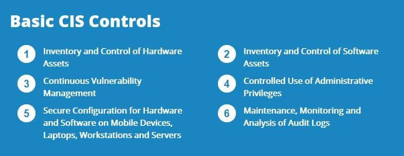 CIS Controls.