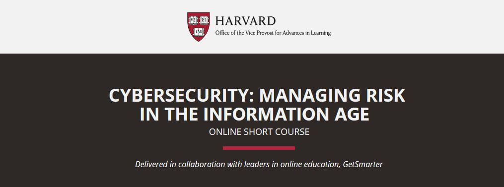 Harvward cybersecurity course online.