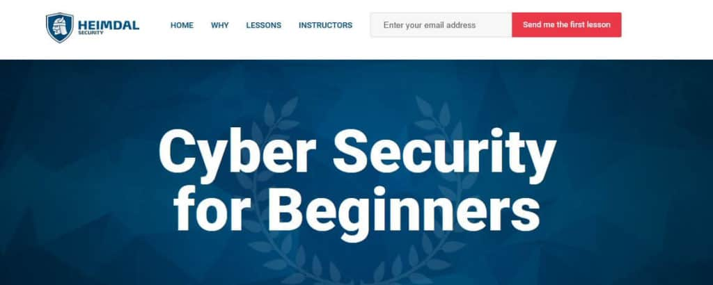Heimdal cybersecurity course online.