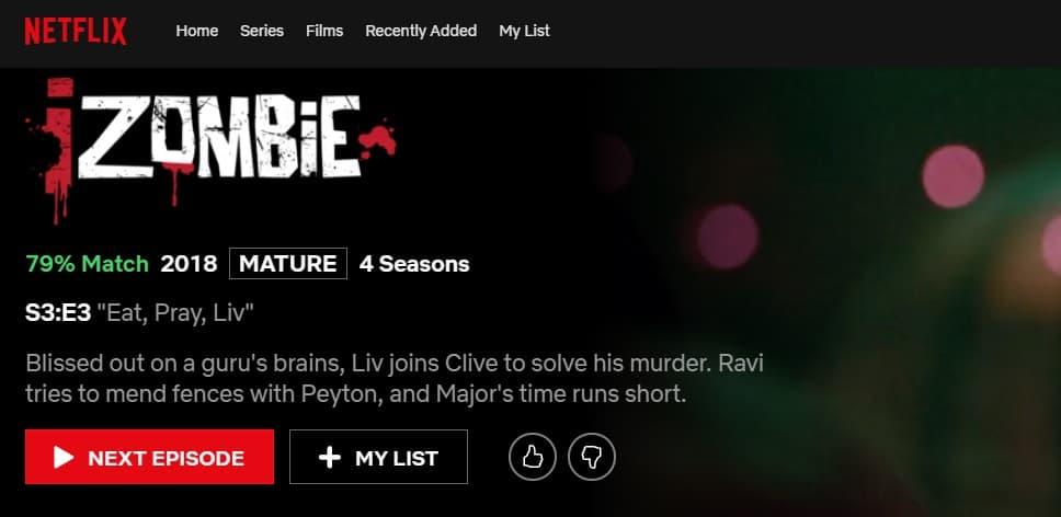 iZombie Netflix