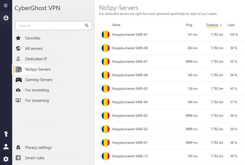 NoSpy servers.
