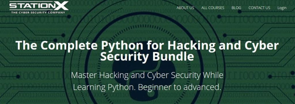 StationX Python ethical hacking courses.