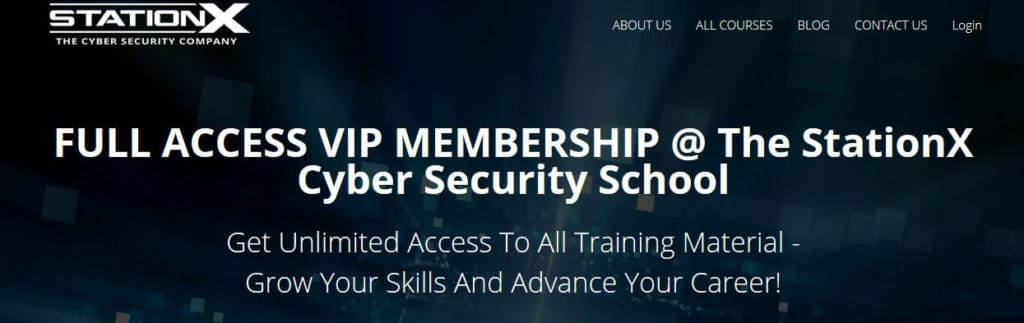 StationX cybersecurity course online.