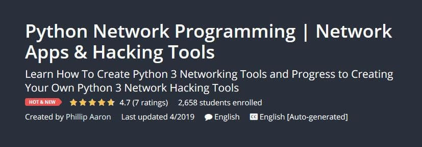 Hacking with Python : 6 Best Online Courses for Ethical Hackers